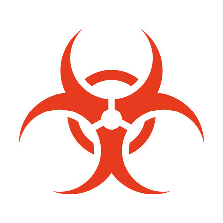 biological hazards: biohazard symbol isolated icon vector illustration design
