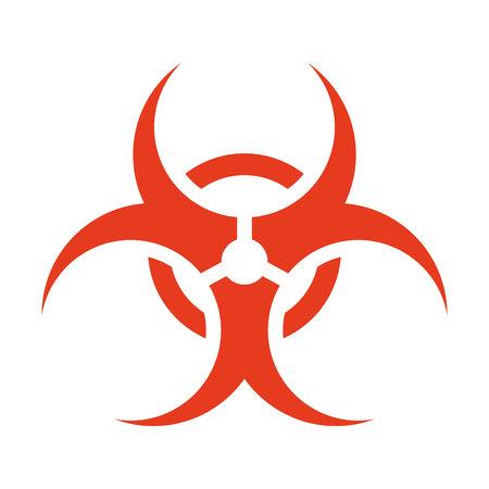 riesgo biologico: símbolo de riesgo biológico aislado icono de ilustración vectorial de diseño