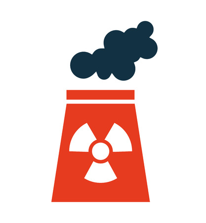nuclear plant chimney icon vector illustration design Illustration