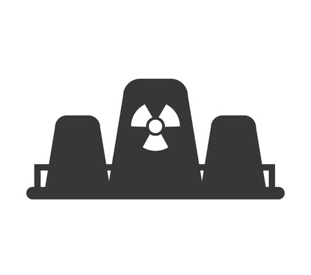 nuclear plant: nuclear plant chimney icon vector illustration design Illustration