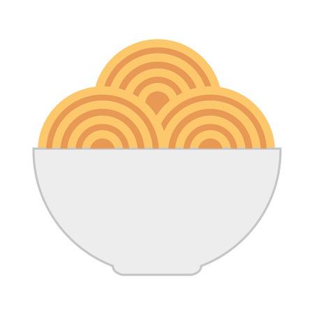 spaghetti schotel geïsoleerd pictogram vector illustratie ontwerp