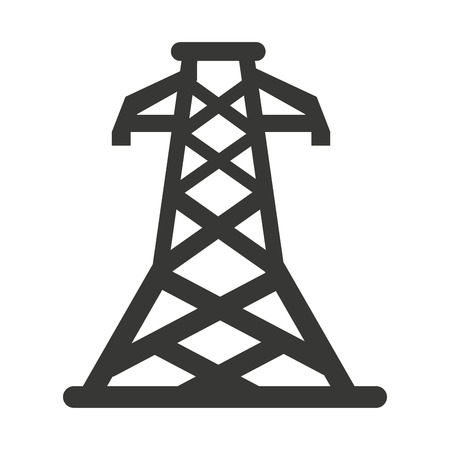 electricity providers: electric tower isolated icon vector illustration design