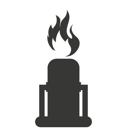 vector nuclear: nuclear plant chimney icon vector illustration design Illustration