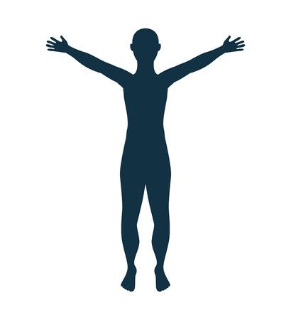 silueta masculina: man male silhouette isolated icon vector illustration design