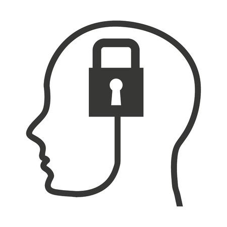 head profile: head human profile tech icon vector illustration design