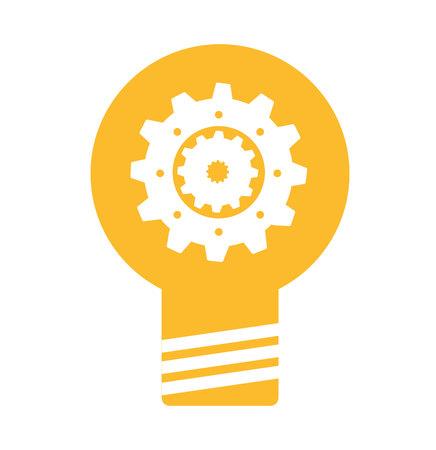 thinking machines: bulb light business isolated icon vector illustration design Illustration