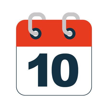 calendar reminder data icon vector isolated design