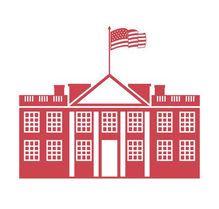 governmental: building governmental usa icon vector illustration design Illustration