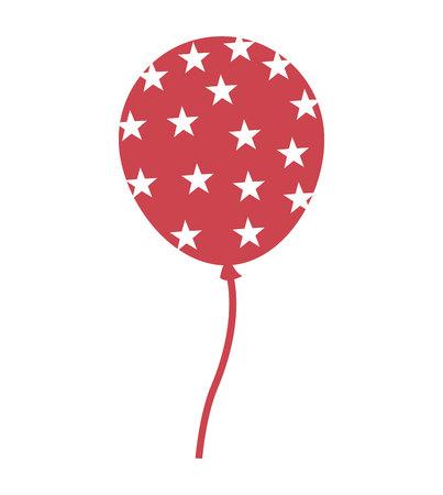 balloon air party icon vector illustration design Illustration