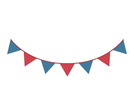 celebration party: party celebration garlands icon vector illustration design Illustration