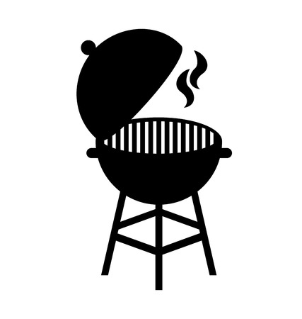 grill hot isolated silhouette icon vector illustration design