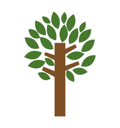 tree plant eco icon vector isolated graphic