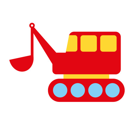 plaything: construction car toy kids icon vector illustration design