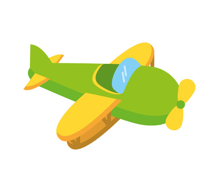 airplane cute toy isolated icon vector illustration design
