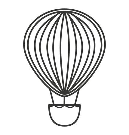 airship: balloon air basket flying icon vector illustration design Illustration