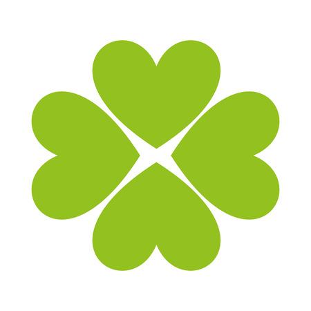 clover leaf luck saint patrick icon vector illustration design