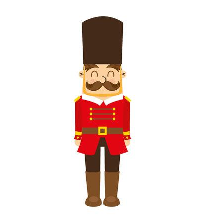 nutscraker soldier toy icon vector illustration design Illustration