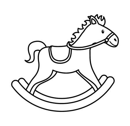 wooden toy: horse wooden toy icon vector illustration design