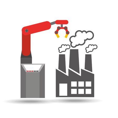 mech: factory and technolgy machine, industry icon, vector illustration Illustration