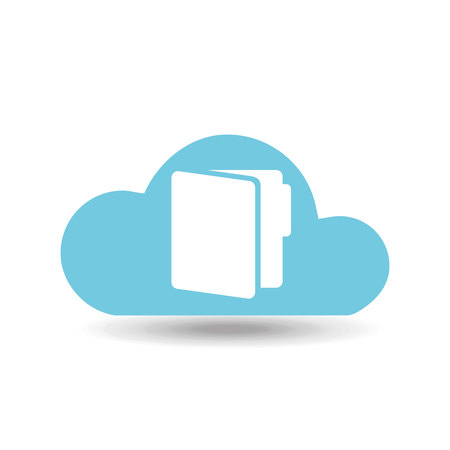 back up: back up on cloud icon, vector illustration Illustration