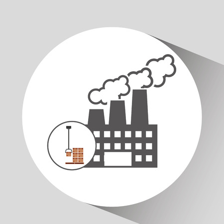 technolgy: factory and technolgy machine, industry icon, vector illustration Illustration
