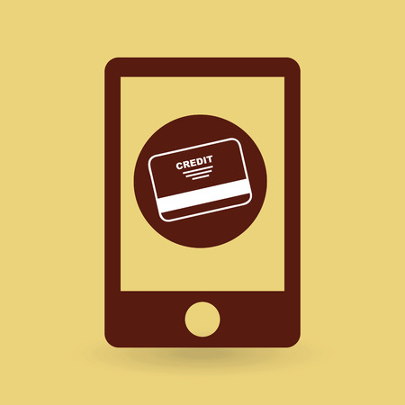 credit card icon: shopping goods with credit card icon, vector illustration Illustration
