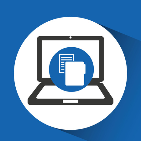 pc icon: pc files and technology icon, vector illustration