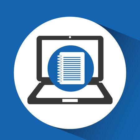 digital files data icon, vector illustration design Illustration