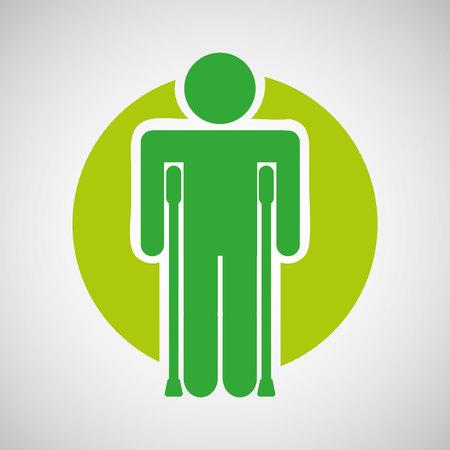 injured: injured guy icon, healthy symbol, vector illustration Illustration