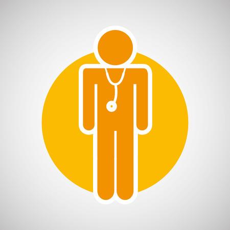 injured guy icon, healthy symbol, vector illustration Illustration