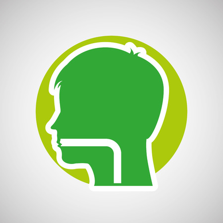 medical care icon, human head symbol, vector illustration