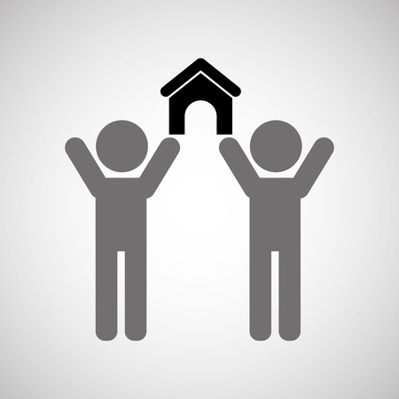 technical service: two people. support technical service icon, vector illustration Illustration
