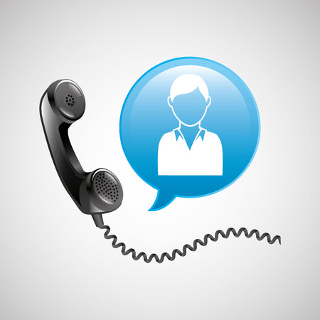 technical service: telecommunication support technical service icon, vector illustration