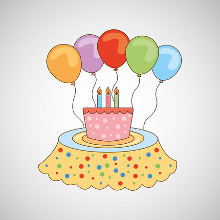 celebration party: birthday cake, celebration party icon, vector illustration
