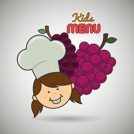 kids menu design, vector illustration