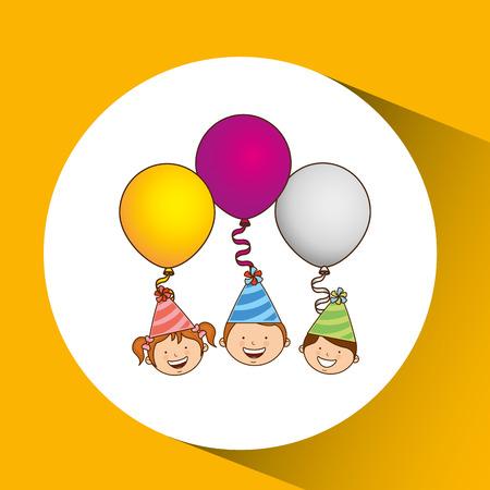 celebration party: Happy birthday, celebration party icon, vector illustration Illustration