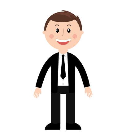 hombre de negocios silueta masculina aislado icono de vector de diseño