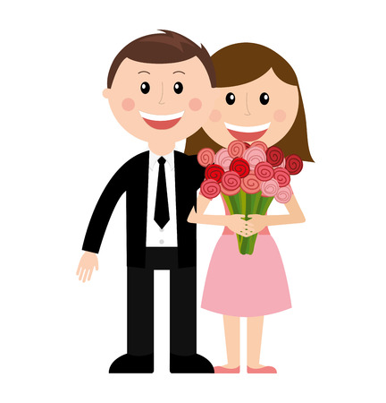 couple man woman love icon vector isolated graphic