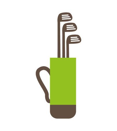 golf bag: golf bag clubs icon vector illustration graphic