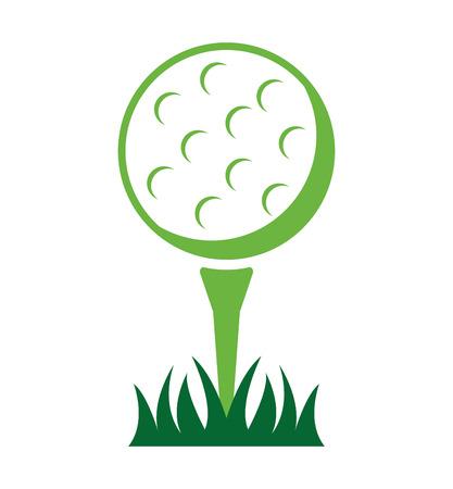 bal golfuitrusting pictogram vector grafische illustratie