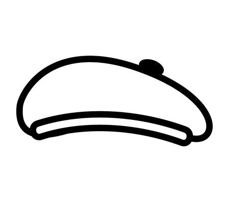 hoed retro-stijl baret vectorillustratieontwerp