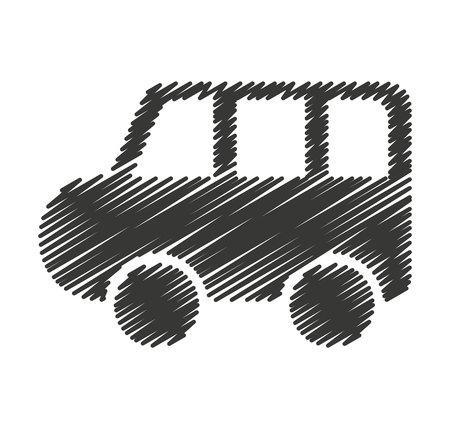 sedan: car auto sedan icon vector illustration design