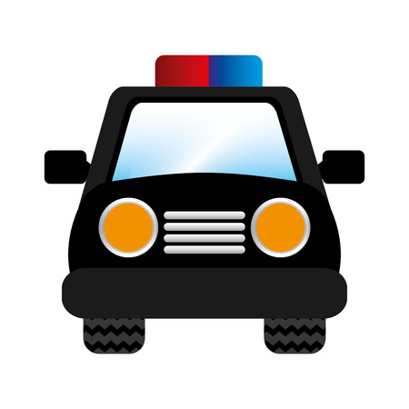 patrol: police car patrol icon vector illustration design