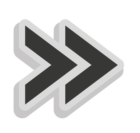 Arrows Signal Index Icon Vector Illustration Design Royalty Free