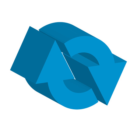 abstract recycle arrows: arrows signal index icon vector illustration design