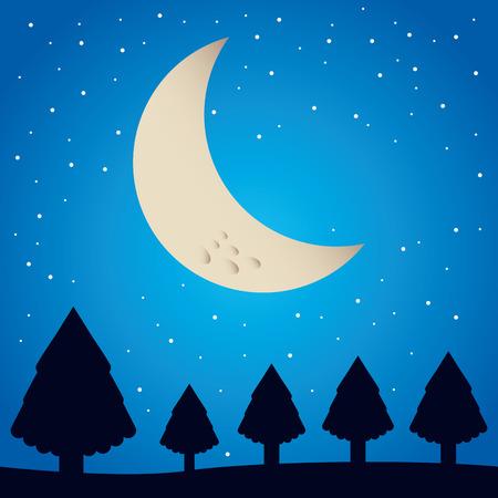 coniferous: winter pineforest landscape icon vector illustration design