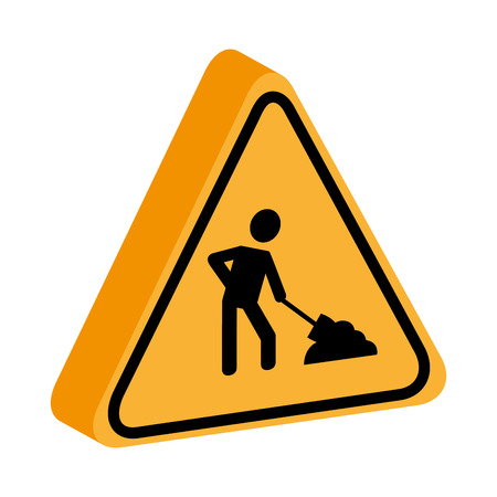 yellow beware: triangle yellow information signal icon vector illustration design Illustration