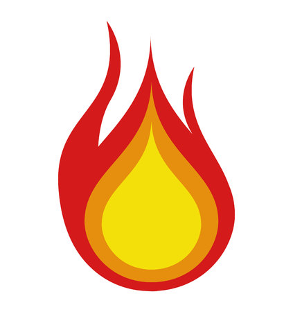 fire icon: fire flame isolated icon vector illustration design