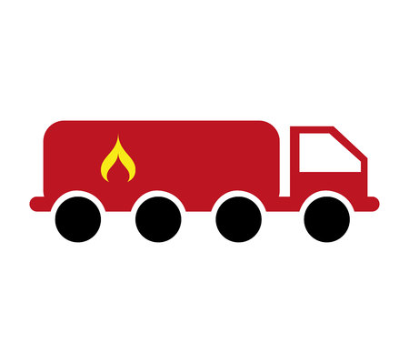 danger box: truck tank flame icon vector illustration design Illustration