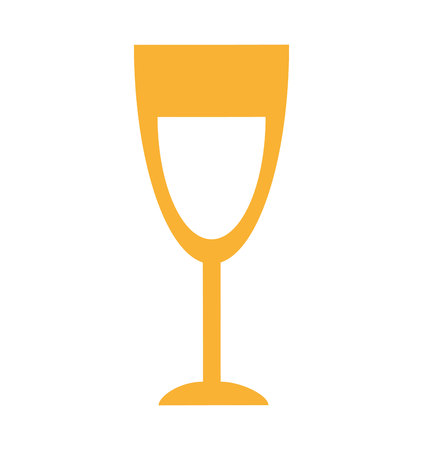 champagne cups: cup wine isolated icon vector illustration design Illustration
